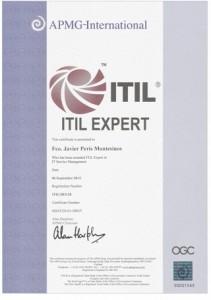 """Javier Peris ITIL® Expert """"Agente 00000111 (007 en binario) al Servicio de su Majestad"""""""
