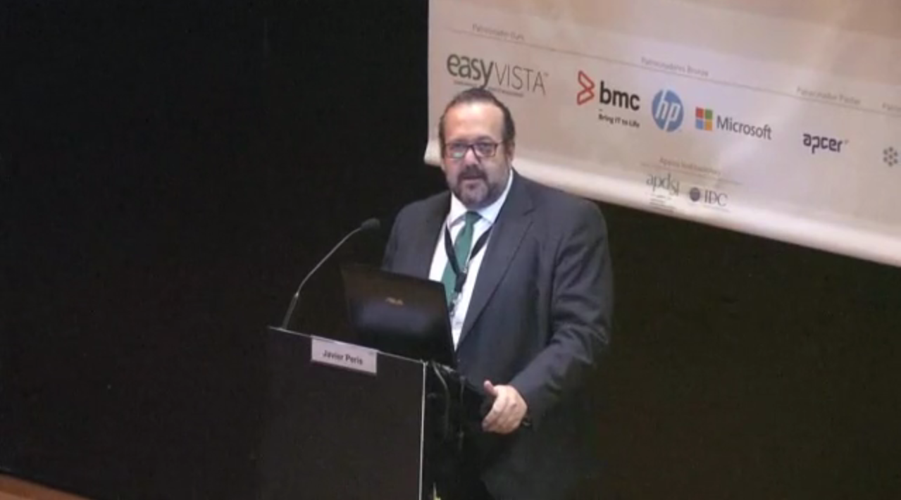 Javier Peris Conferencia en Lisboa para el Capítulo de itSMF en Portugal en 2015 bajo el Titulo ¿Y tú, Gobiernas o solo Gestionas las TI?