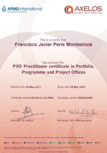 Javier Peris Registered Practitioner in P3O® Portfolio, Programme and Project Offices