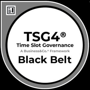 Time Slot Governance TSG4® Black Belt Badge