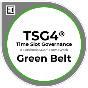 Time Slot Governance TSG4® Green Belt Badge