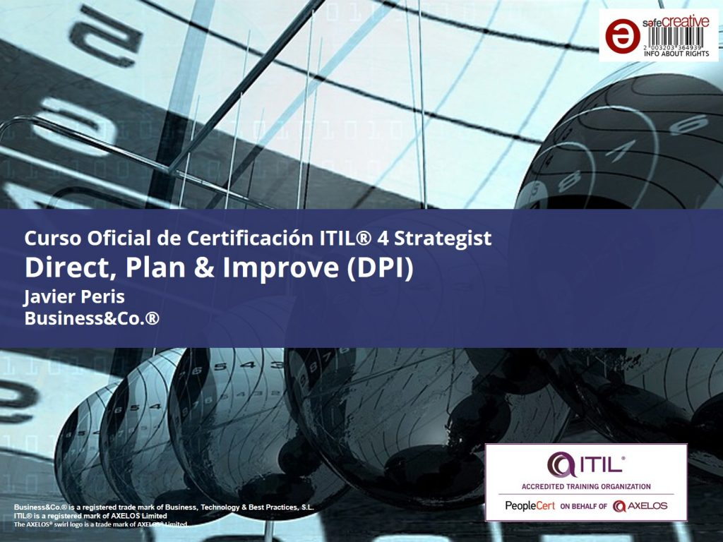Curso Oficial ITIL® 4 Strategist Direct Plan & Improve ITIL DPI